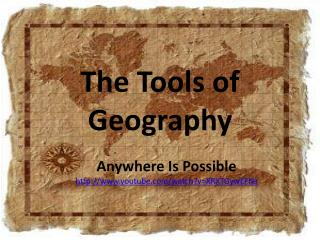 The Tools of Geography