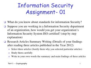 Information Security Assignment- 01
