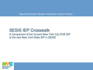 SESIS IEP Crosswalk