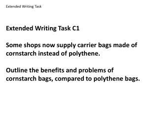 Extended Writing Task C1