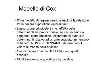 Modello di Cox