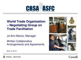 World Trade Organization – Negotiating Group on Trade Facilitation