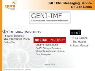 IMF: XML Messaging Service GEC 13 Demo