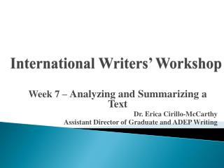 International Writers' Workshop