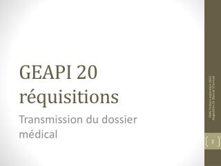GEAPI 20 réquisitions