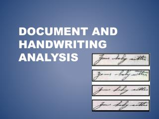 Document and Handwriting analysis