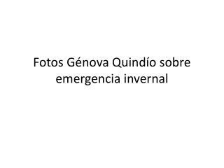 Fotos Génova Quindío sobre emergencia invernal