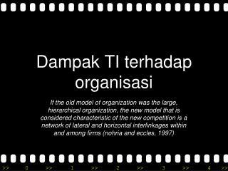 Dampak  TI  terhadap organisasi