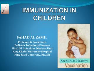 IMMUNIZATION IN CHILDREN