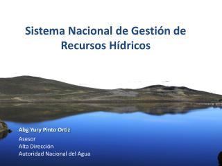 Autoridad Nacional el Agua