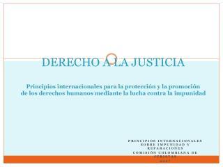 Principios internacionales sobre impunidad y reparaciones  Comisión colombiana de juristas  2007