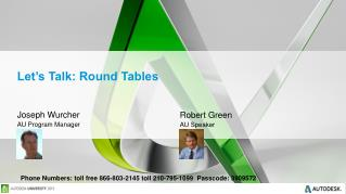 Let�s Talk: Round Tables