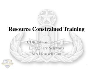 Resource Constrained Training