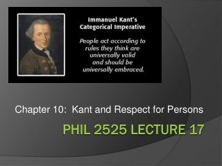 KANT S CATEGORICAL IMPERATIVE