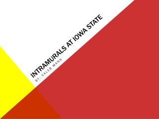 Intramurals at Iowa state
