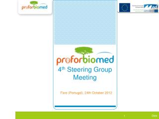 WP1  4 th  Steering Group Meeting