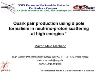 Quark pair production using dipole formalism in neutrino-proton scattering at high energies *