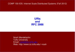 URIs and RFC 3986