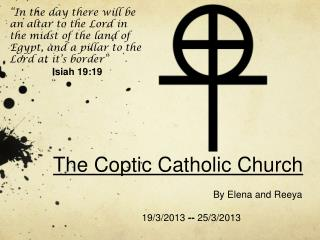 The Coptic Catholic Church