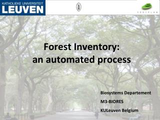 Forest Inventory:  an automated process
