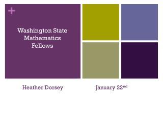 Washington State Mathematics Fellows