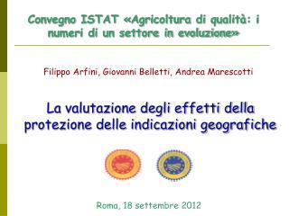 Convegno ISTAT «Agricoltura di qualità: i numeri di un settore in evoluzione»