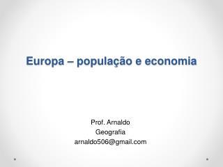 Europa – população e economia