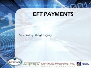 EFT PAYMENTS