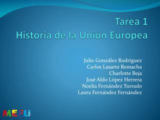 Tarea 1 Historia de la Unión Europea