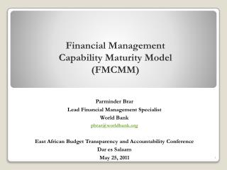 Financial Management  Capability Maturity Model (FMCMM)