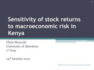 Sensitivity of stock returns to macroeconomic risk in  Kenya