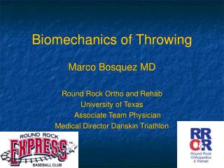Biomechanics of Throwing