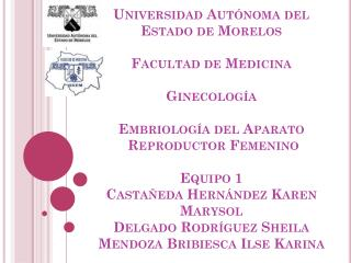 EMBRIOLOGIA DEL APARATO REPRODUCTOR FEMENINO