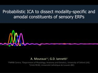 Probabilistic ICA to dissect modality-specific and amodal constituents of sensory ERPs