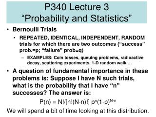 "P340 Lecture 3 ""Probability and Statistics"""