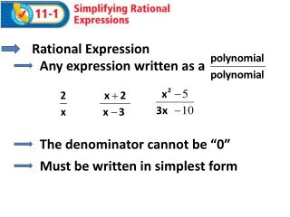 Rational Expression