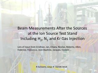 Beam Measurements After the Sources a t the Ion  S ource Test Stand
