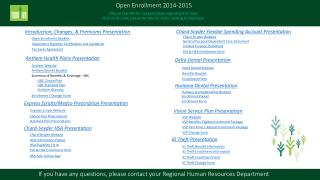 Open Enrollment 2014-2015