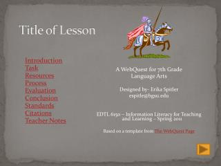 Title of Lesson