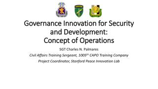 Governance Innovation for Security and Development: Concept of Operations