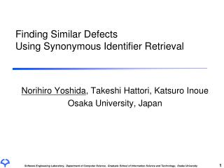 Finding Similar Defects  Using Synonymous Identifier Retrieval