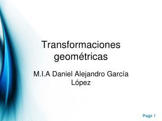 Transformaciones geométricas