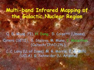 Multi-band Infrared Mapping of the  Galactic  Nuclear Region