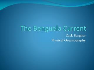The  Benguela  Current