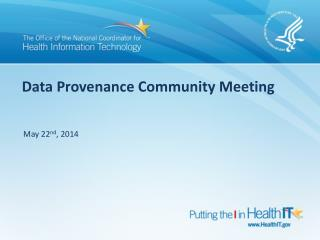 Data Provenance Community Meeting