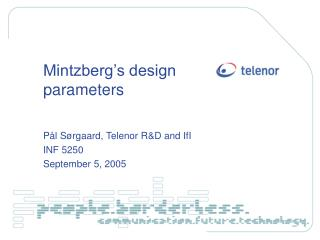 Mintzberg s design parameters