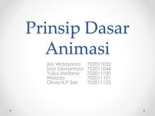 Prinsip Dasar Animasi