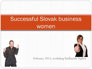 Successful Slovak business women