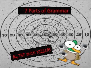 7 Parts of Grammar