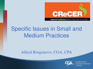 Specific Issues in Small and Medium Practices